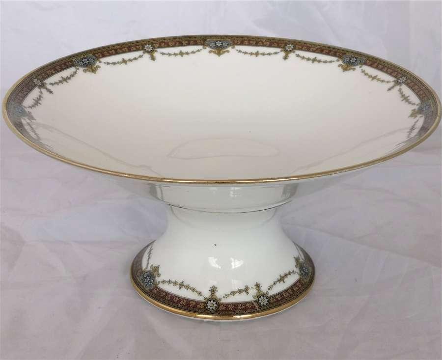 Antiguo plato pedestal de porcelana de Limoges