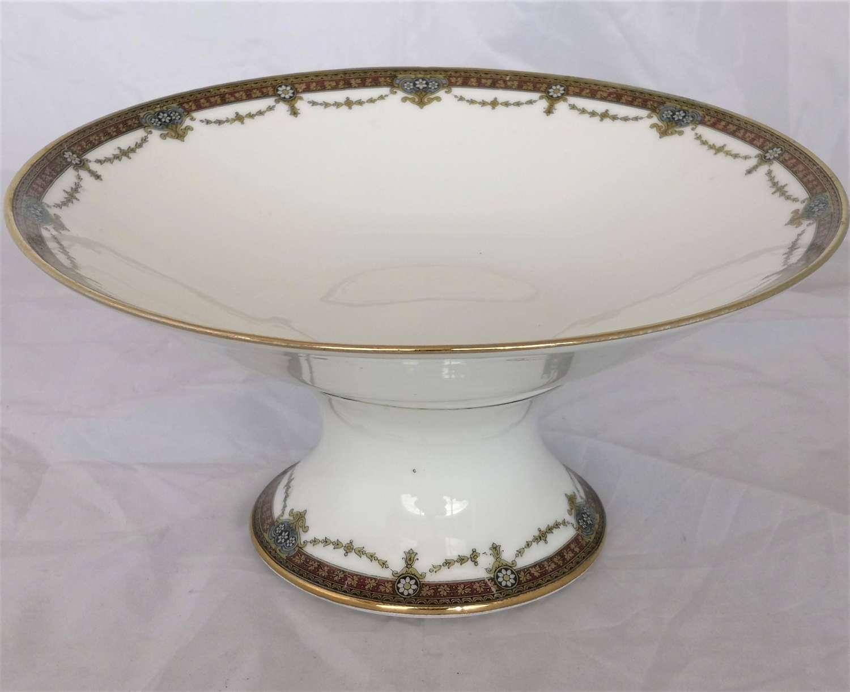 Antique Limoges porcelain pedestal dish