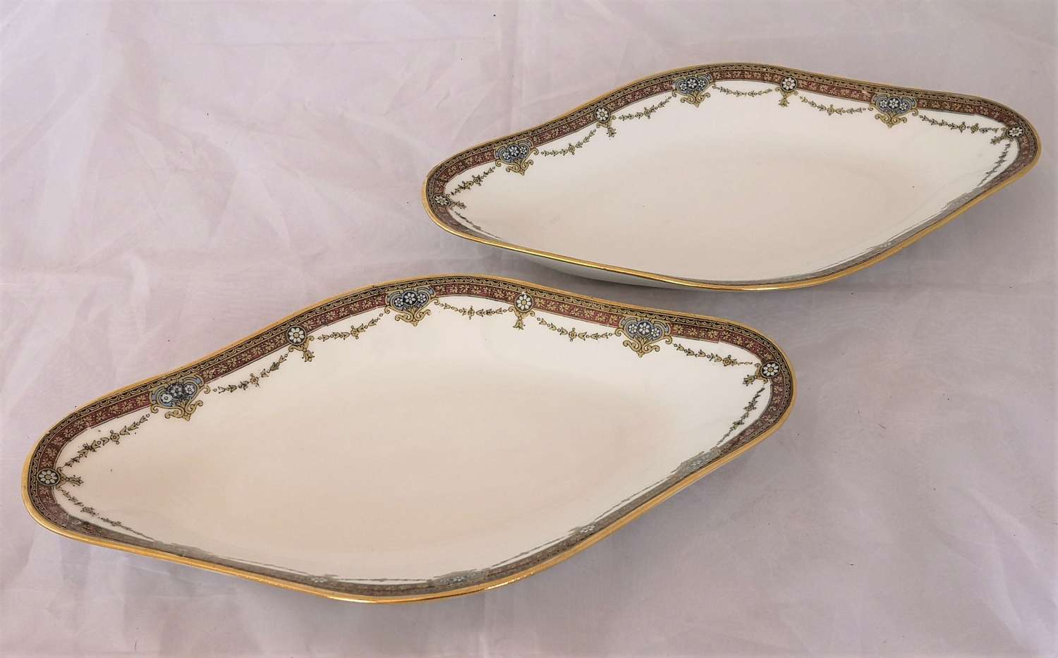 Two antique Limoges hors d'oeuvre dishes
