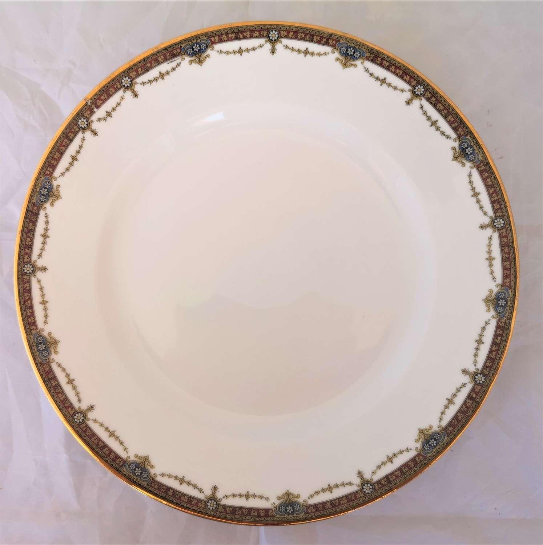 Limoges porcelain serving plate circa 1930s