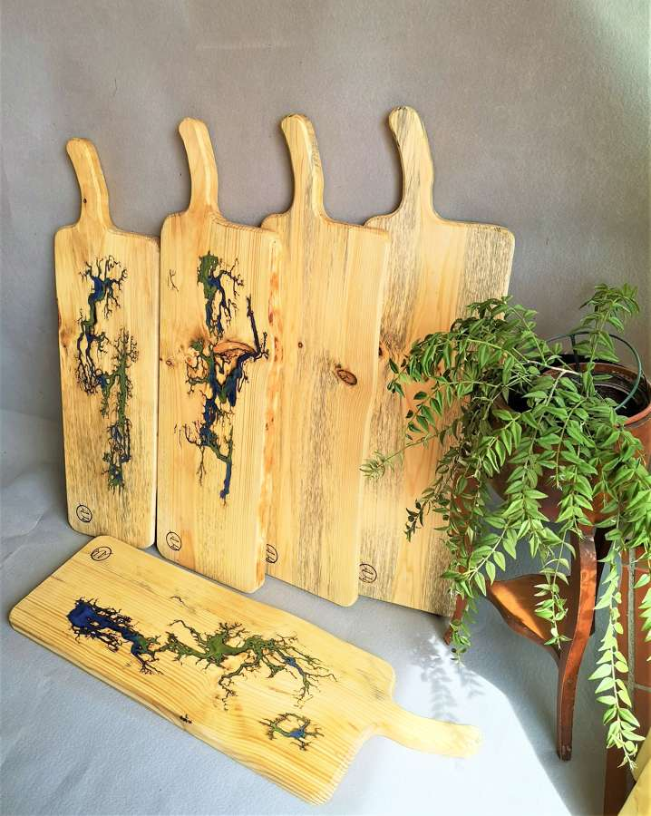 Large handmade contemporary serving boards