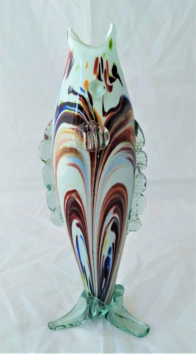 Vintage Murano glass in the form of a fish
