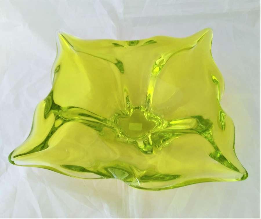 Murano style glass bowl