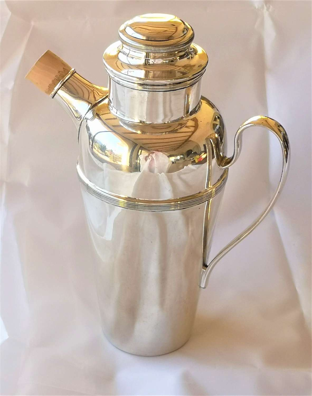 Silver plated cocktail shaker