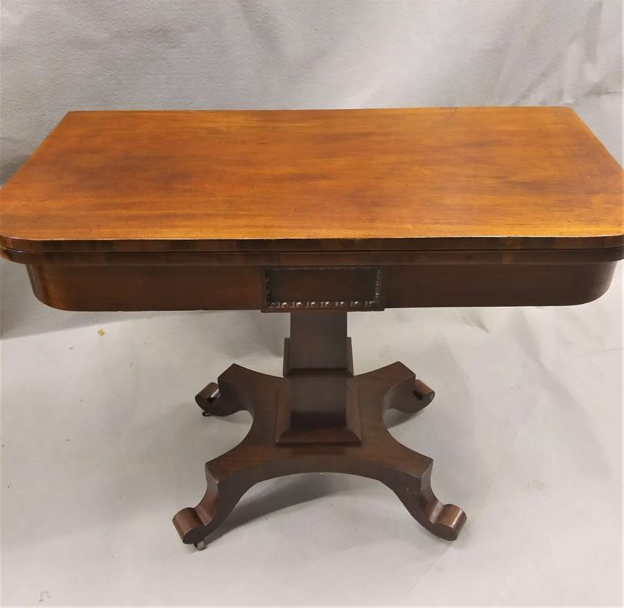 Victorian antique pedestal tea table