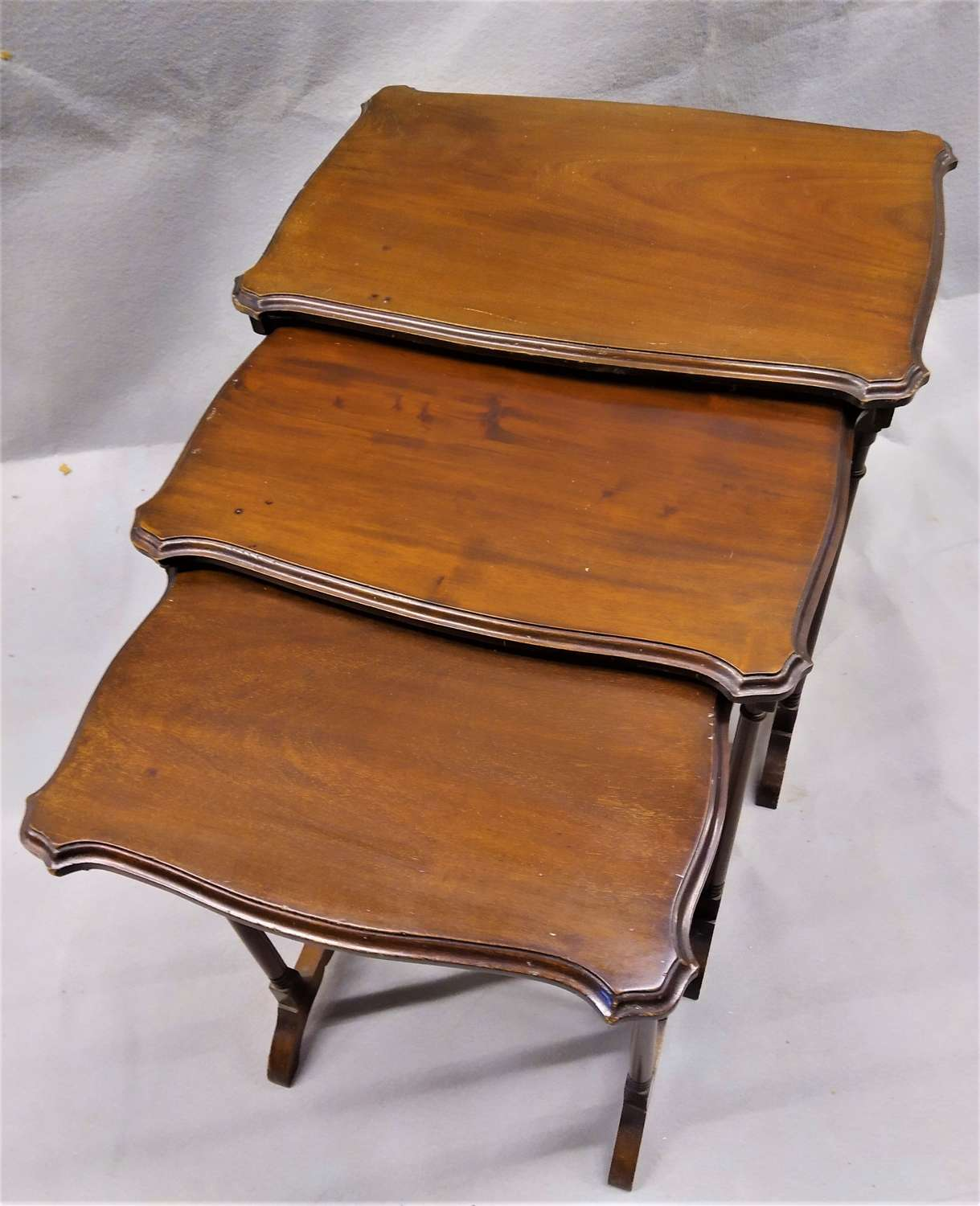 Edwardian mahogany nest of tables circa 1920