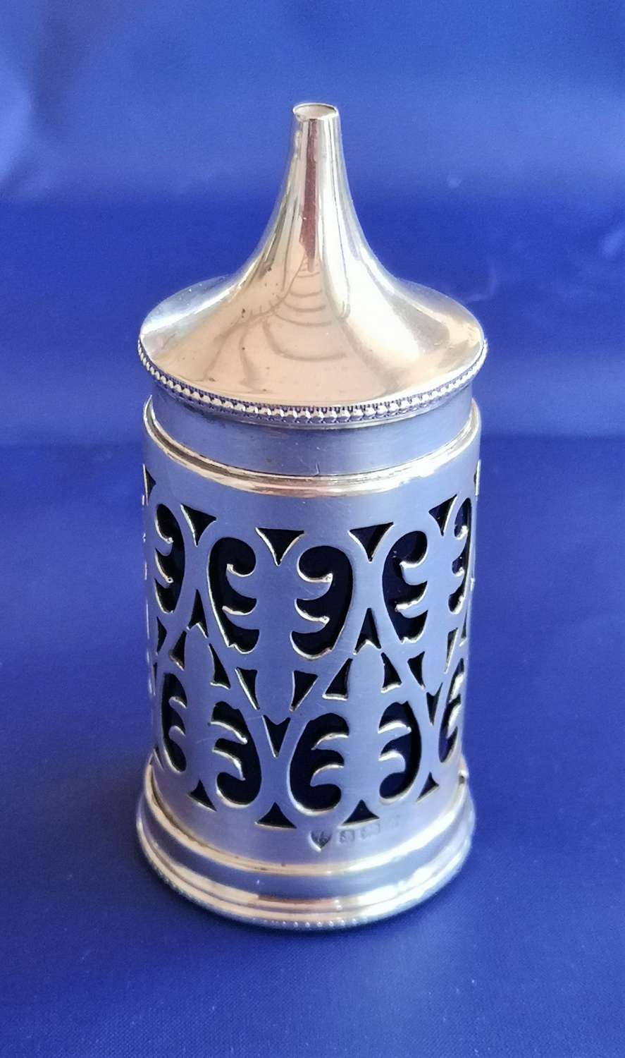 Sterling silver mustard container from Birmingham, England year 1925