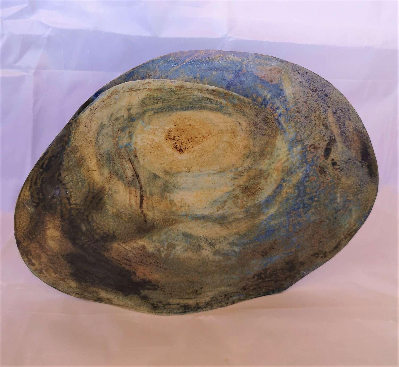 Jarron arte contemporáneo de ceramica firmado Signe