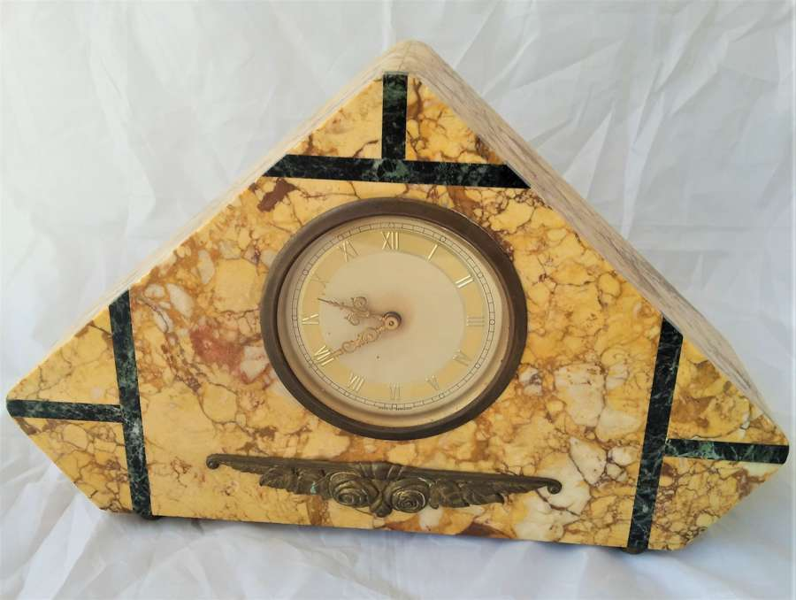 Art Deco marble mantle clock circa 1930