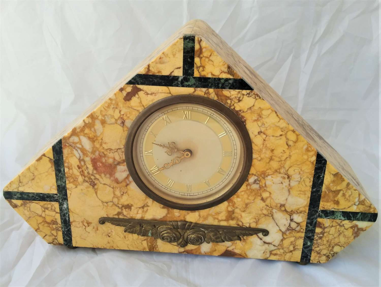 Art Deco marble mantle clock circa 1930