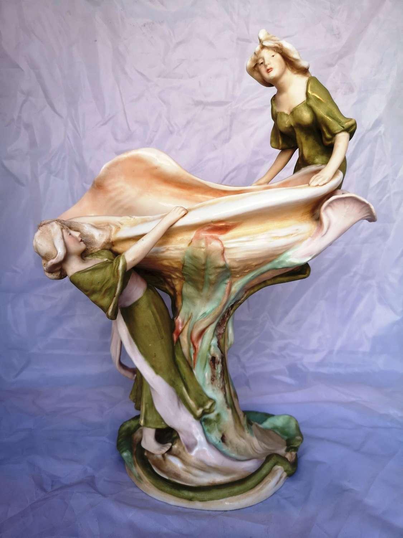 Royal Dux Art Nouveau porcelain figurine