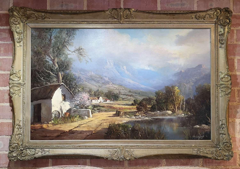 Oil painting on canvas Gabriel de Jongh